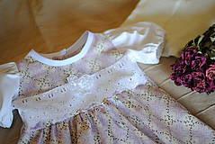 Detské oblečenie - Fialkové šatičky - 10651500_