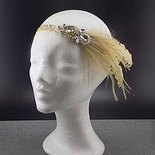 Ozdoby do vlasov - Great Gatsby Gold Ornament ... čelenka - 10652859_