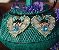 Náušnice - Motýľ - 10654078_