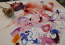 Grafika - Kvety a ja - 10653322_