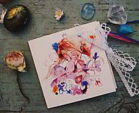 Papiernictvo - Kvety a ja/Prianie - 10653328_