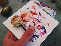 Papiernictvo - Kvety a ja/Prianie - 10653329_