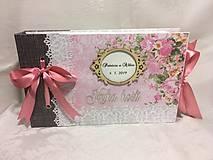 Papiernictvo - Kniha hostí ružovo-sivá - 10654018_