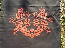 Nákupné tašky - red roses,eko taška-čierna - 10654010_