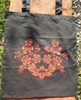 Nákupné tašky - red roses,eko taška-čierna - 10654016_