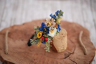 Ozdoby do vlasov - Detská kvetinová čelenka - 10654097_