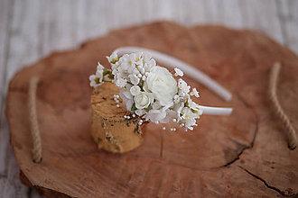 Detské doplnky - Detská kvetinová čelenka na 1. sväté prijímanie - 10654136_