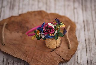 Ozdoby do vlasov - Detská kvetinová čelenka - 10654150_