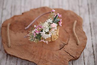 Ozdoby do vlasov - Uni veľkosť kvetinová čelenka vhodná pre deti a aj dospelých - 10654159_