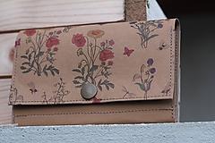 Peňaženky - Snappap peňaženka kvety - 10653904_