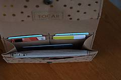 Peňaženky - Snappap peňaženka kvety - 10653905_