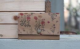 Peňaženky - Snappap peňaženka kvety - 10653913_