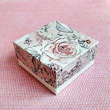 Obalový materiál - Krabička darčeková kvety - 10652442_