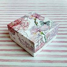 Obalový materiál - Krabička darčeková kvety - 10652449_