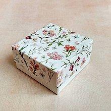 Obalový materiál - Krabička darčeková poľné kvety - 10652477_