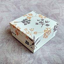 Obalový materiál - Krabička darčeková kvety - 10652478_