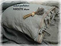 Úžitkový textil - Lněné povlečení LAVANDE STRIPES - 10653841_