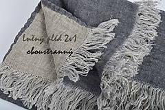 Úžitkový textil - Lněný pléd, deka oboustranná - 10653860_