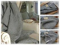 Úžitkový textil - Lněný pléd, deka ....plastický vzor - 10653870_