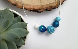 Náhrdelníky - Modrý náhrdelník - 10652503_