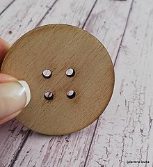 Galantéria - gombík drevený MAXI-L 5cm - 10652888_