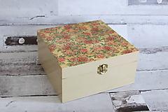 Krabičky - Krabička ruže - 10653151_