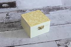 Krabičky - Krabička béžová čipka - 10653175_