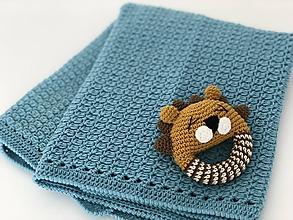 Textil - Detská deka CozyMerino - tyrkysová - 10652847_