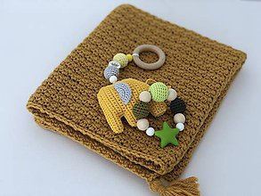 Textil - Detská deka PureAlpaca - horčicová - 10652849_