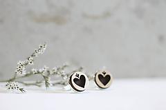 Šperky - Manžetové gombíky Srdce (Béžová) - 10652923_