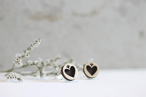 Manžetové gombíky Srdce