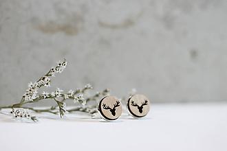 Šperky - Manžetové gombíky Jelene (Béžová) - 10652913_