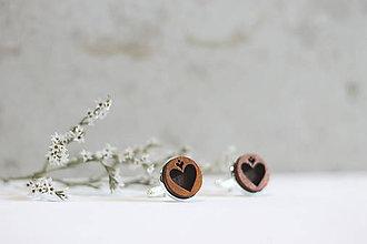 Šperky - Manžetové gombíky Srdce (Hnedá) - 10652921_
