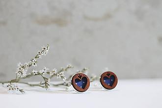 Šperky - Manžetové gombíky Srdce (Modrá) - 10652924_