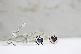 Šperky - Manžetové gombíky Srdce (Modrá) - 10652927_