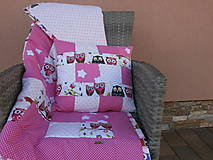"""Textil - """"Ružové sovičky"""" vankúšik - 10653590_"""
