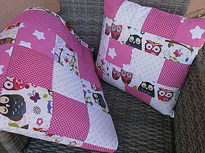 """Textil - """"Ružové sovičky"""" detská deka - 10653570_"""