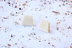 Náušnice - Náušnice napichovačky - lichobežníky - 10653206_