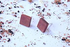 Náušnice - Náušnice napichovačky - štvorce - 10653711_
