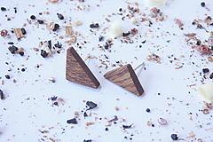 Náušnice - Napichovacie náušnice - trojuholníky - 10653786_