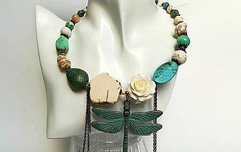 Sady šperkov - VÁŽKA ( náhrdelník + náušnice ) - 10653194_