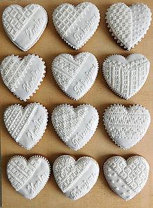 Dekorácie - Perníkové srdcia