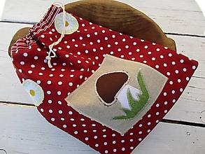 Úžitkový textil - vrecko na hríby - 10652491_