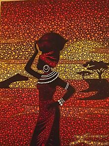 Obrazy - Africká žena - 10652347_