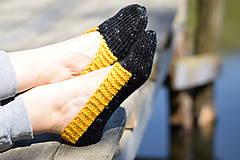 Obuv - papučky - balerínky čierny melír (v. 37-38 ) - 10653431_