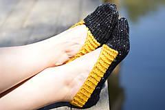 Obuv - papučky - balerínky čierny melír (v. 37-38 ) - 10653432_