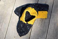 Obuv - papučky - balerínky čierny melír (v. 37-38 ) - 10653436_
