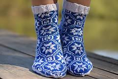 Obuv - ponožky s nórskym vzorom 2019 ( v.37 - 38 ) - 10653486_