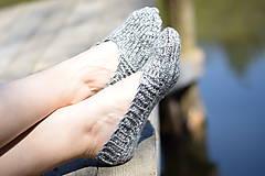 Obuv - papučky-balerínky šedé ( v.37-38) - 10653526_