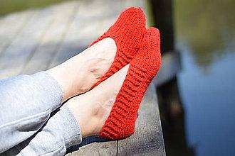 Obuv - papučky-balerínky červené (v.37-38) - 10653553_